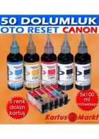 Canon PGI-5 CLI-8 (5 Renk) Uyumlu Kartuş Dolum Seti